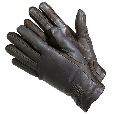 Isotoner 40262 Women's Leather SmarTouch Touchscreen Gloves Brown XL