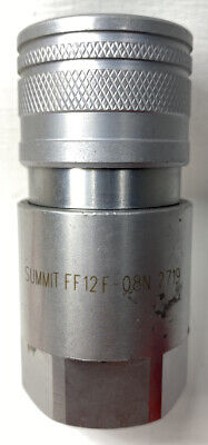 "Summit FF12F-08N 2719 1/2"" NPT Flat Face Hydraulic Quick Connect Female Coupler"