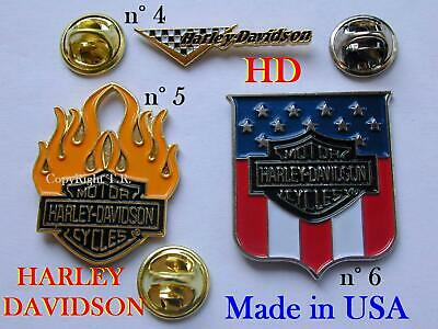n. 1 HARLEY DAVIDSON HD Spilla USA METALLO Pin badge Badge Broche Brosche Brooch