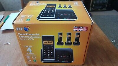 BT home Phone with answering machine Xenon 1500 - 4 phones
