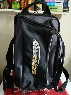 Stormpro Bowling Ball Bag On Wheels, Double Carry, Black/Gray. See Photos