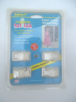 Safety 1st Magnetic Tot-Lok Four Lock Assembly - 4pc. (I have 2 sets - 8pc)