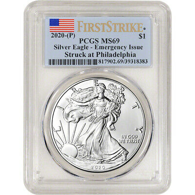 2020-(P) American Silver Eagle - PCGS MS69 First Strike Emergency Issue