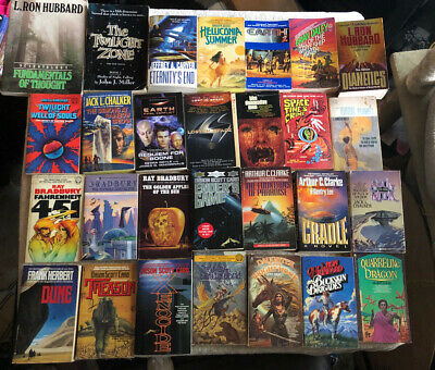 Science Fiction Paperback Book Lot Bradbury And More