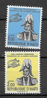 Haiti , 1976/77, Airmail , Jean Dessalines , Set Of 2 Stamps , Perf , Mnh