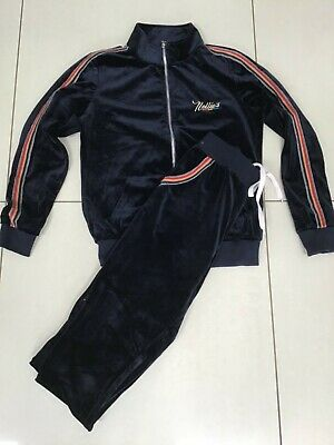Girls Velour Navy Tracksuit Size 12-14 Years
