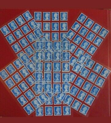 100 Genuine 2nd Class Stamps Unfranked Off Paper, FACE VALUE £65 CHEAP CHEAP!!!!