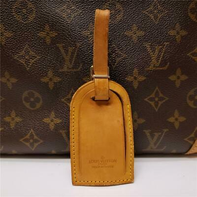Authentic LOUIS VUITTON Large Leather Luggage ID Tag Name Tag with Strap [#131]