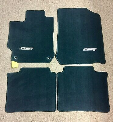 2016 Toyota Camry Floor Mats Carpet Front & Rear Nylon Black w/ Camry