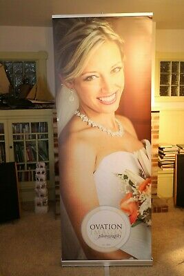 Banner Stand  Trade Show Display Expo Booth Sign Photo Florist Catering