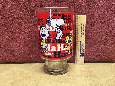 Vintage Large Snoopy Charlie Brown Drinking Glass
