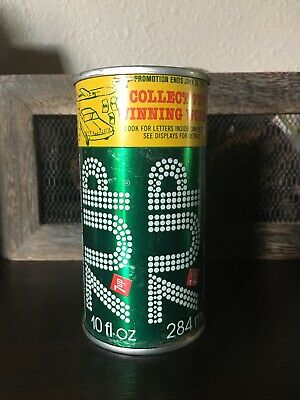Vintage 7-UP Pull Top Soda Can 10oz