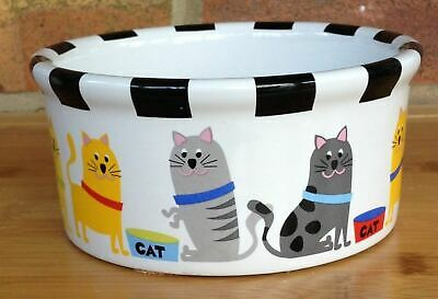 Signature Housewares, Water or Feeding Bowl, Cat, Whiskers, Brand New, Size S