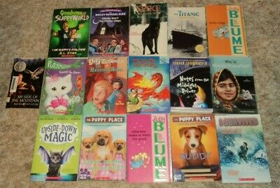 """SCHOLASTIC & MORE """"CHILDRENS"""" PAPERBACK COLLECTION - Lot of 16 - Great Reading"""