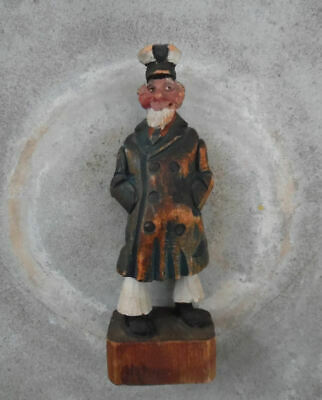 ARMAND LaMontagne CARVED WOOD SEA CAPTAIN, SIGNED,  RARE