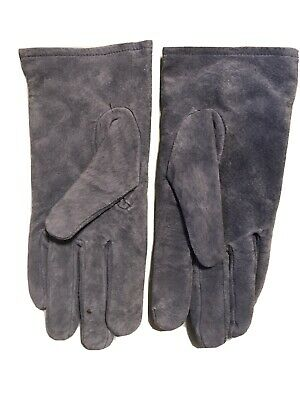 ARIS LADIES L WOMEN Blue SUEDE LEATHER GLOVE SPORT VTG