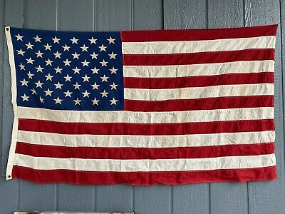 Vintage Valley Forge Flag Co Cotton Made in USA US American Flag 3 x 5 Ft