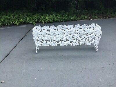 Rare Cast Iron Trough Type Planter Grape Pattern. Will Deliver, See Details.