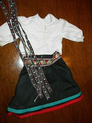 Pleasant Company American Girl Kirsten Winter Outfit Skirt Blouse Ribbons