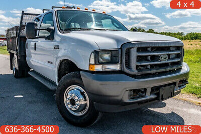 2004 Ford F550 Super Duty xl Used 4wd flatbed crew cab low miles 1 owner diesel