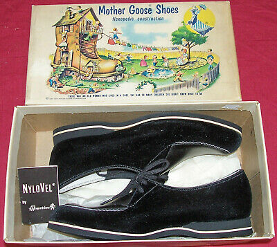 Vintage 1954 Mother Goose Children's Shoes Shoe Advertisement Ad Old Collector
