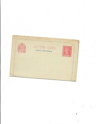 Victoria  LETTER CARD -unused H&G #A7