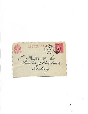 Victoria  1894 Letter Card H&G#A5 -Geelong locally used