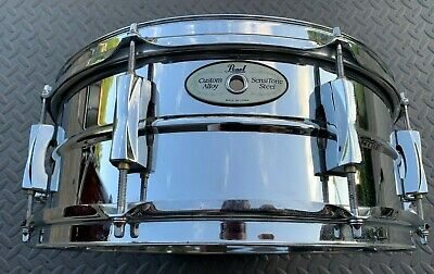 "Pearl Sensitone 5.5"" X 14"" Steel Snare Drum"