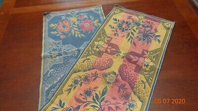 Vintage reversible Tapestry table runner multi color from Belgium
