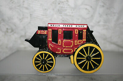 Vintage Wells Fargo Banks And Union Trust Co.metal Stage Coach Piggy Bank