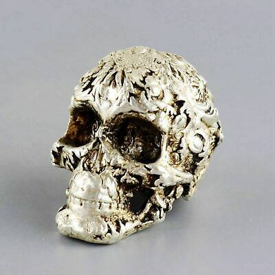 Collect China Old Miao Silver Hand-Carved Vicious Skull Unique Exorcism Statue