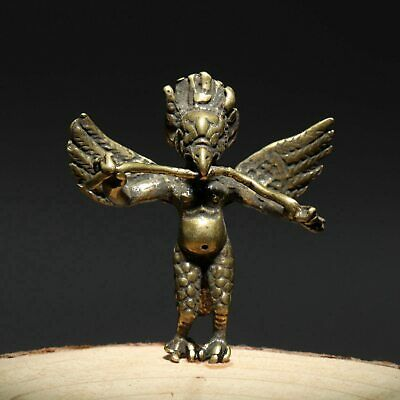 Collect China Old Bronze Hand-Carved Budhism Statue Exorcism Delicate Pendant