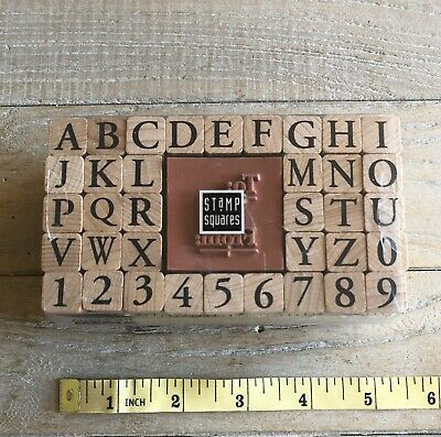 All Night Media ~ ALPHABET ~ Wood Mount Stamp Set