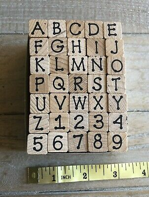 ALPHABET ~ Wood Mount Stamp Set