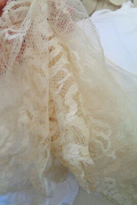 """Gorgeous Victorian Silk Open Lace Fragment Ethereal18"""" By 12"""""""