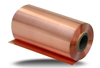 1pc 99.9% Pure Copper Cu Metal Sheet Foil 0.1 x 100 x 1000MM   39""