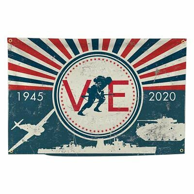 VE Day 75th Anniversary Flags, 5ft*3ft Bunting - V E Day decorations 2020