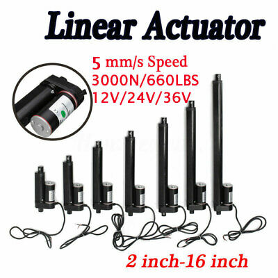 3000N Electric Linear Actuator Cylinder Lift Stroke 50-600mm DC12V Window Opener