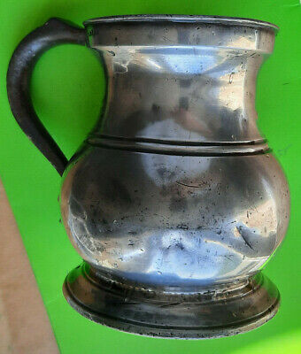 Antique Pewter Tankard Quart Pot James Yates Beer Cider drinking breweriana