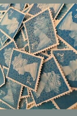 500 2nd Class Security Stamps Unfranked Off Paper No Gum FACE VALUE £325