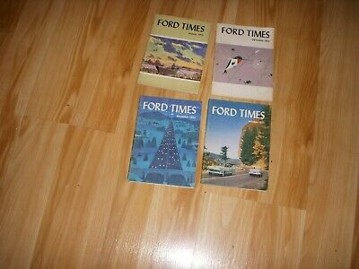4-  1955  Ford Times  Magazines