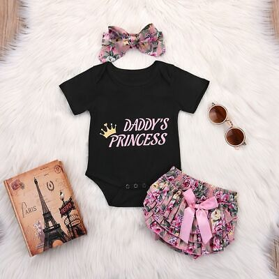 Infant Floral Kids Clothing Cotton Baby Girl Clothes Tops+Pants+Headband