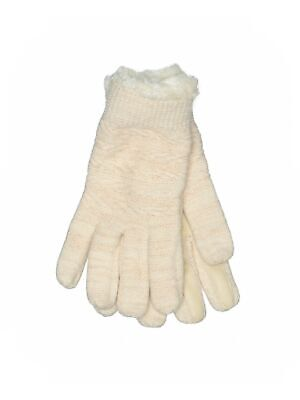 Assorted Brands Women Ivory Gloves One Size