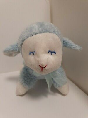 Little lambert Blue And White Sweet Little Lamb, Rattle 15cm