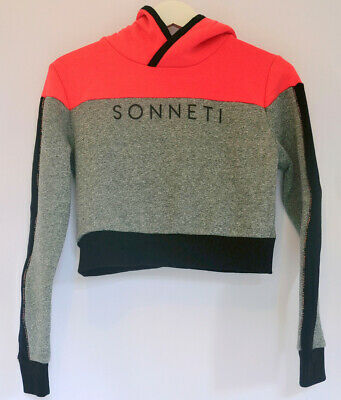 Girl's Sonneti Piper Wrap Overhead Cropped Hoodie Size 12-13 New (Son-12-13-Pg)