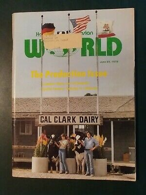 Holstein World 1977 Production & Sire Issue + Cal-Clark + Winter Place Sale Book