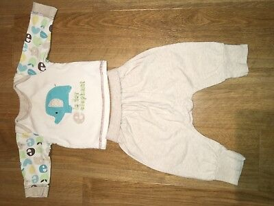 Baby Boy Mothercare Elephant Top & Trousers Age 3-6 months