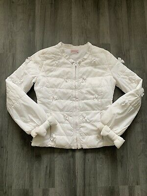 Girls Designer monnalisa puffa jacket Age 12 Years Excellent Con White