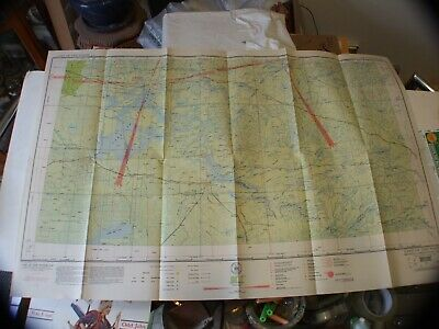 "Vintage Rare 1941 Sectional Aeronautical Chart Lake Of The Woods,Mn 40""X24"" !!!"