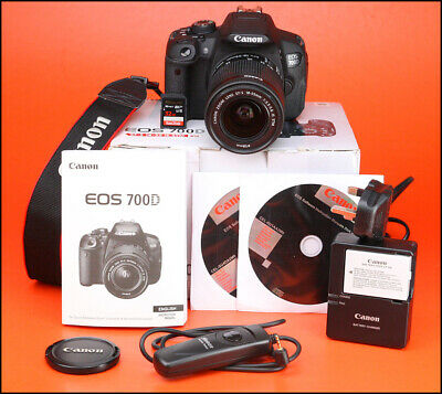 Canon EOS 700D DSLR Camera + Canon EF 18-55mm IS STM Zoom Kit + Only 3,029 Shots